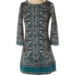 WHBM black and white patterned dress